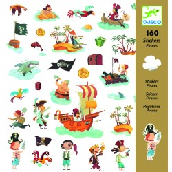 160 Stickers Pirate - Djeco