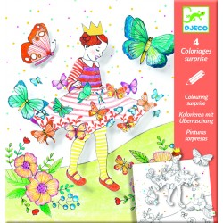 Coloriages Surprises - Lady Butterfly - Djeco