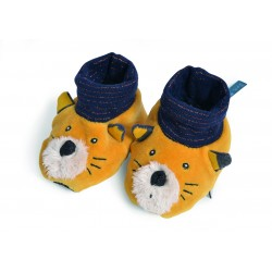 Chaussons Lulu - Les Moustaches - Moulin Roty